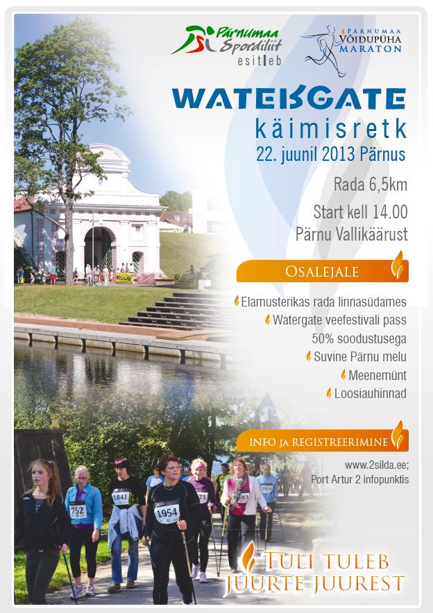 Watergate käimisretk Pärnus 22.06.2013
