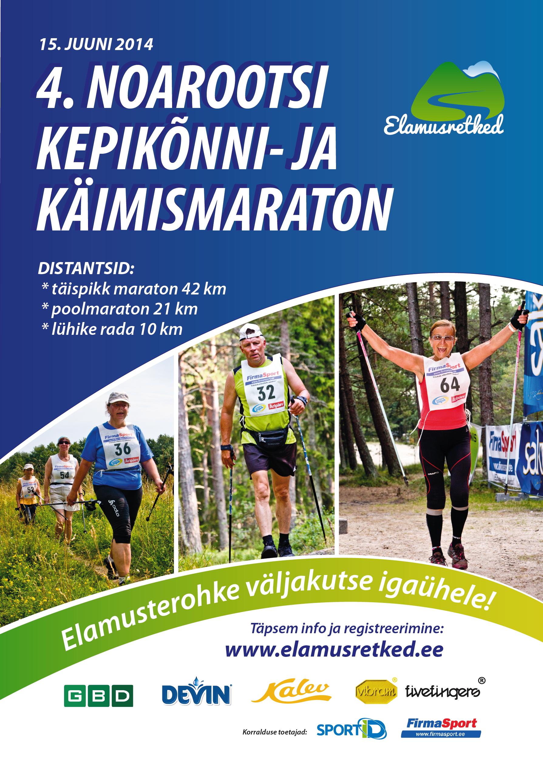 Elamusterohke väljakutse igaühele - viimane võimalus registreerida 4. Noarootsi kepikõnni- ja käimismaratonile!
