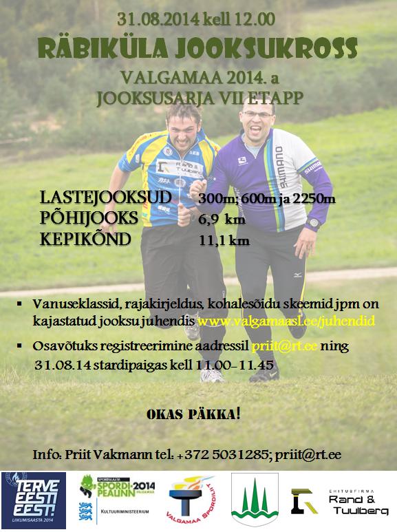 Räbaküla jooksukrossil 31.08 ka mõnus kepikõnni distants!