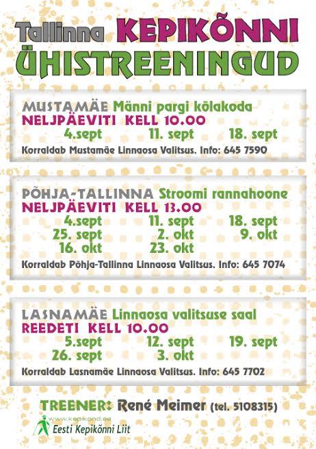 Tallinna kepikõnni ühistreeningud alustavad!